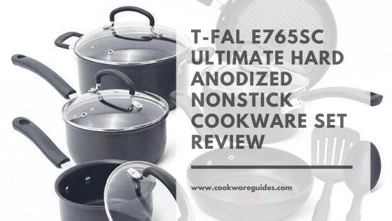 T-fal E765SC Hard Anodized Cookware Set, Nonstick Pots and Pans Thermo-Spot set