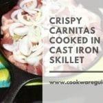 Crispy Carnitas in cast iron skillet